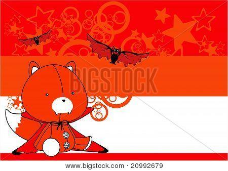 fox  bat plush cartoon background