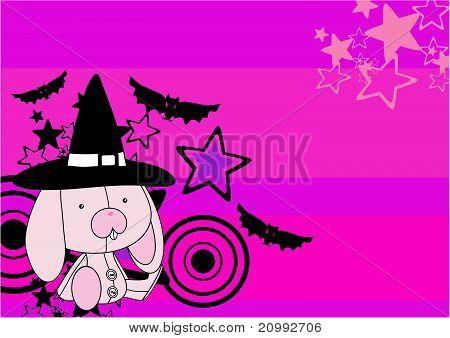 bunny  witch plush cartoon background