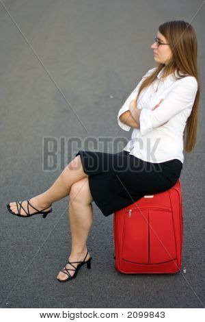 Business Woman Waiting