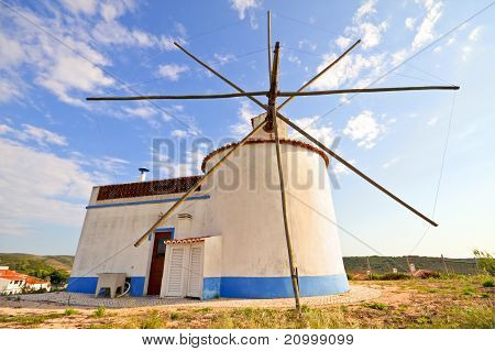 Traditonal windmill in Portugal