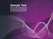 Постер, плакат: фиолетовый белый фон линии вектор с сеткой и место для текста