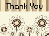foto of thank you note  - abstract floral background with thank you text - JPG