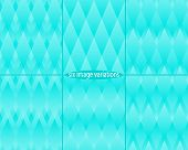 Abstract seamless azure pattern in six variations.