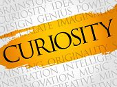 Curiosity Word Cloud Collage poster