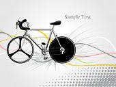 Постер, плакат: Абстрактный серый фон с красочными полосами изолированные велосипедов