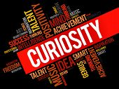 Curiosity Word Cloud poster