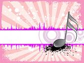 pic of g-spot  - abstract texture background with isolated musical notes - JPG