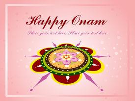 pic of pookolam  - beautiful illustration for happy onam - JPG
