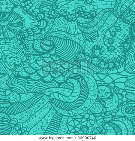 Hand drawn grass seamless pattern