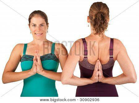 Ladies In Namaskar Posture