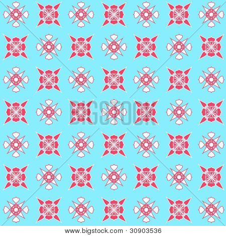 Artistic floral pattern