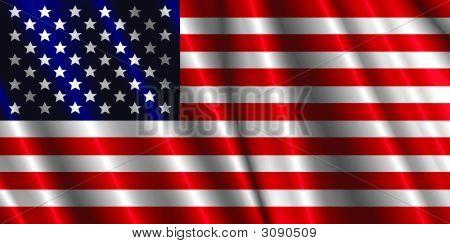 Us Silk  Flag