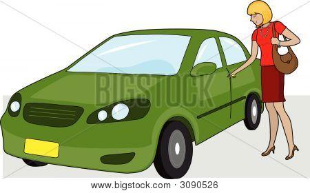 Chica y el coche