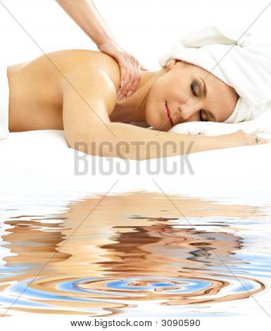Professional Massage On White Sand