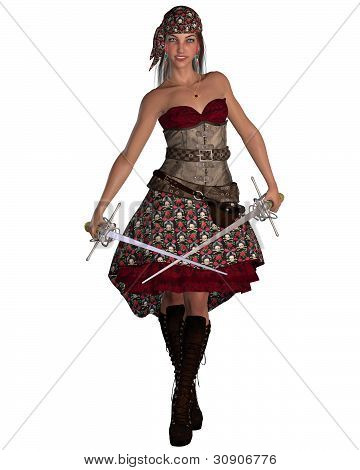Pirate Woman with Bandana