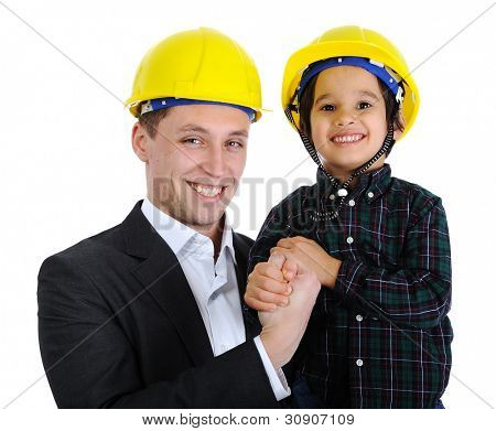 Father and son as engineers