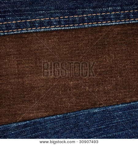 Jeans And Corduroy Textures