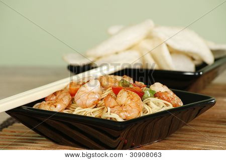Chinese Prawns And Noodles