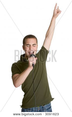 Teenage Boy Singing