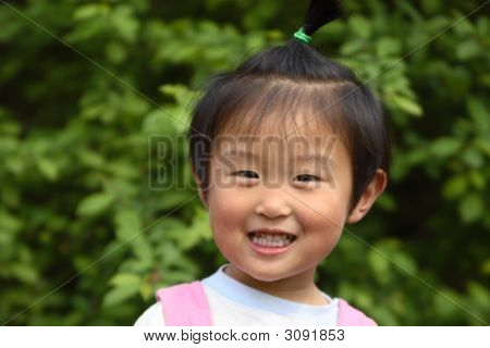 Happy Little Chinese Girl