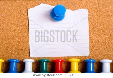 Note On Bulletin Board