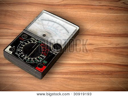 this is a voltmeter on the table