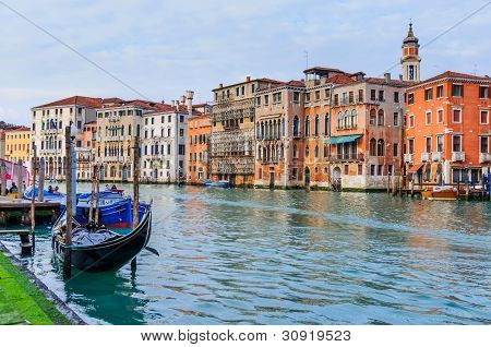 Romantic canal in center of Venice.