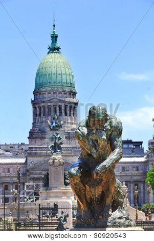 Rodin statue in Congressional Plaza