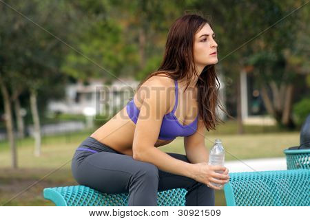 Beautiful Female Athlete Outdoors (7)