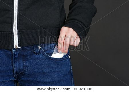 Drugs Out Of Jeans Pocket