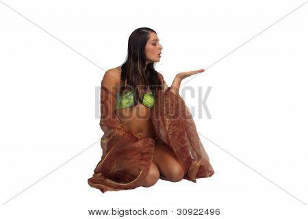 Beautiful Athletic Bikini-clad Hostess (2)