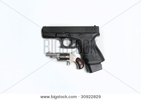 9mm Pistol With 22 Mini Revolver