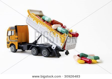 Truck Downloading Drugs