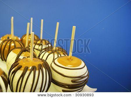 Tray of Caramel Apples