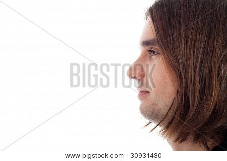 Profile Of Young Relaxed Man Face