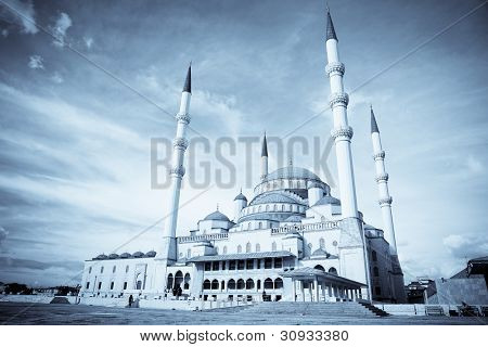 Kocatepe Mosque in Ankara, Turkey - split toned