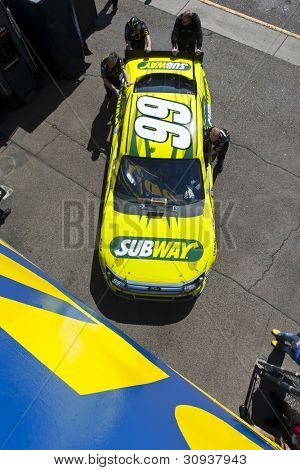 AVONDALE, AZ - MAR 03:  The NASCAR Sprint Cup Series teams bring their cars out to qualify for the Subway Fresh Fit 500 at the Phoenix International Raceway in Avondale, AZ on Mar 03, 2012.