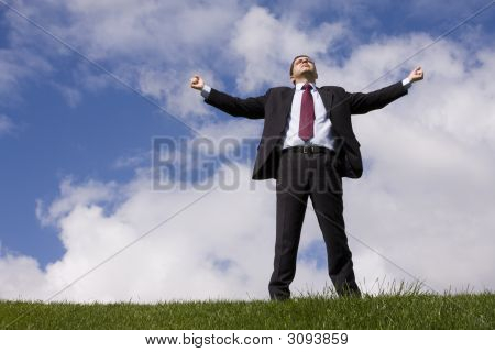 Businessman Enjoying Nature