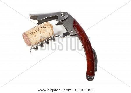 Corkscrew on white Background
