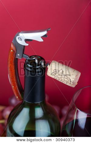 Corkscrew and Winebottle