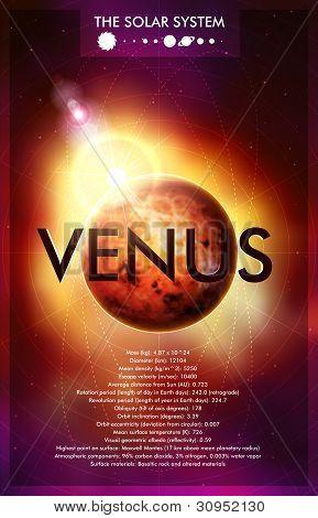 Vector Solar System - Planet Venus