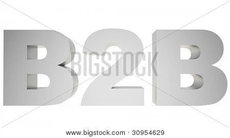3d render of B2B ( Business 2 business ) sign