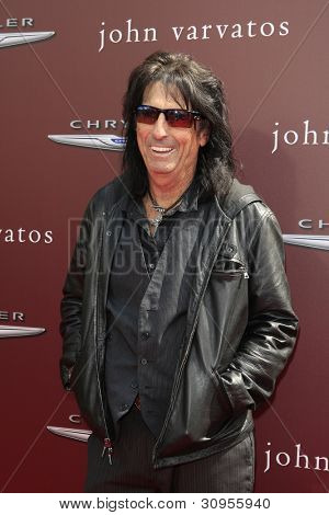 LOS ANGELES - MAR 11:  Alice Cooper arrives at the 9th Annual John Varvatos Stuart House Benefit at the John Varvatos Store on March 11, 2012 in West Hollywood, CA