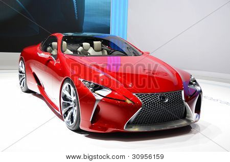 GENEVA - MARCH 12: LF-LC Hybrid Concept Sport Coupe by Lexus on display at 82nd Geneva Motor Show on March 12, 2012 in Geneva, Switzerland.