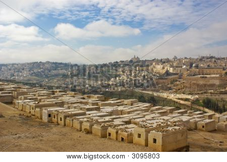 Legendary Jewish Cemetery On Olive Mount In Kidron Valley, Jerusalem