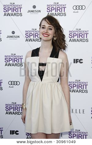 SANTA MONICA, CA - FEB 25: Joslyn Jensen at the 2012 Film Independent Spirit Awards on February 25, 2012 in Santa Monica, California