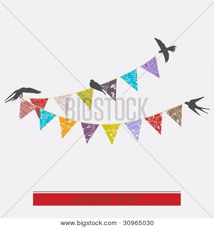 floral decorative buntings