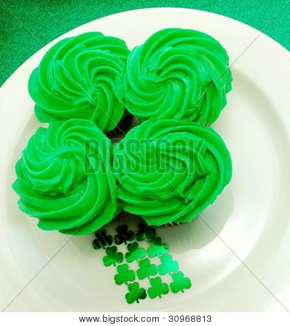 Four Leaf Clover Cupcake Display