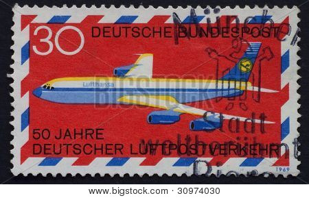 Air mail post stamp_Germany