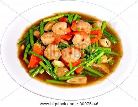 Thai Stir-Fried Shrimp & Asparagus